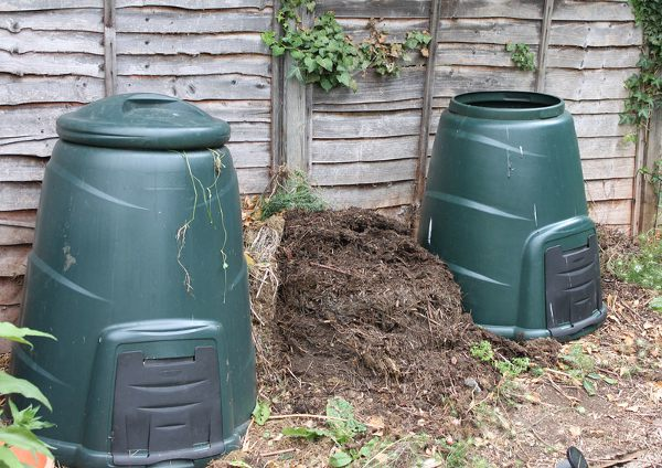 Pair of Dalek compost bins.