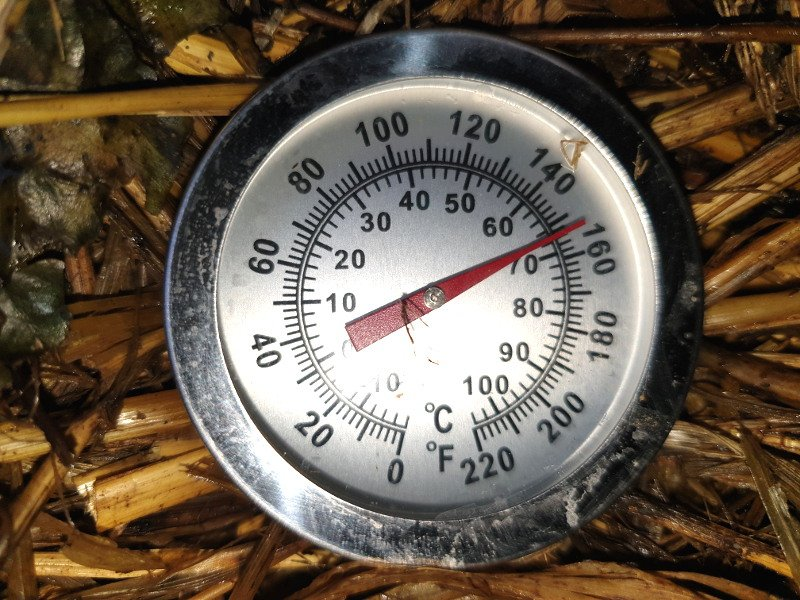 A compost thermometer is highly useful when using a hot composting method.
