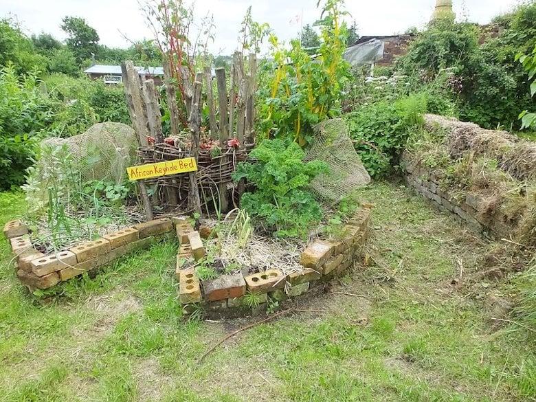 An African Keyhole garden.